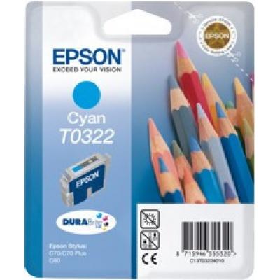 Epson T032240 błękitny (cyan) tusz oryginalna