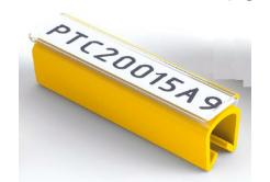 Partex PTC50021A4, żółty, 100 szt., (6,0-7,2mm), PTC oznaczniki nasuwane na etykietę