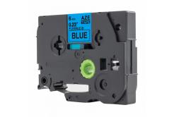 Taśma zamiennik Brother TZ-S511 / TZe-S511, 6mm x 8m, mocno klejący, czarny druk / modrý po