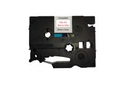 Taśma zamiennik Brother TZ-152 / TZe-152, 24mm x 8m, czerwony druk / przezroczysty podkład
