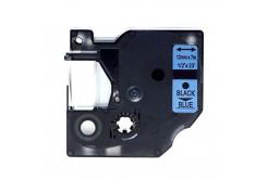 Taśma zamiennik Dymo 45016, S0720560, 12mm x 7m czarny druk / niebieski podkład