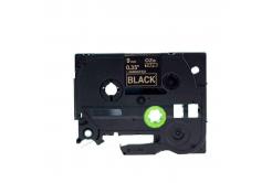 Taśma zamiennik Brother TZ-324 / TZe-324, 9mm x 8m, złoty druk / biały podkład