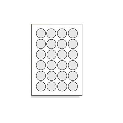 Samoprzylepne etykiety 40 x 40 mm, 24 etykiet, A4, 100 arkuszy