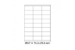 Samoprzylepne etykiety 70 x 35 mm, 24 etykiet, A4, 100 arkuszy