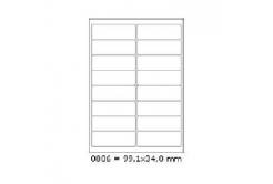 Samoprzylepne etykiety 99,1 x 34 mm, 16 etykiet, A4, 100 arkuszy
