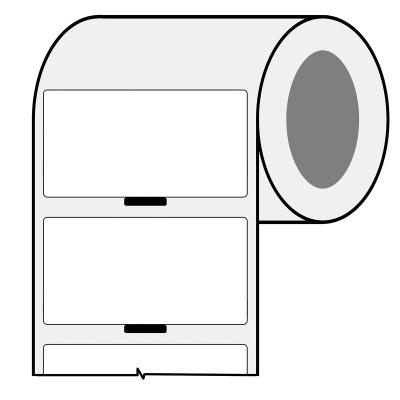 Brady BPT-636-461-AW / 217092, termoczułe etykiety papierowe, 48.26 mm x 25.40 mm