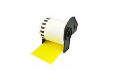 Brother DK-22605, 62mm x 30,48m, żółty, etykiety papierowe zamiennik
