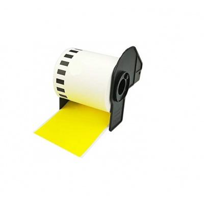 Brother zamiennik DK-22605, 62mm x 30,48m, żółty, etykiety papierowe