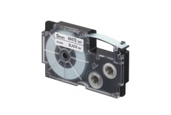 Casio XR-9WE1, 9mm x 8m, czarny druk / biały podkład, taśma oryginalna
