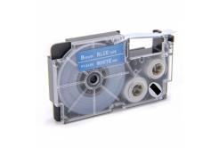 Taśma zamiennik Casio XR-9ABU 9mm x 8m biały druk / niebieski podkład