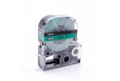 Epson LC-SC6GW, 6mm x 8m, czarny druk / zielony podkład, taśma zamiennik