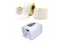 Samoprzylepne etykiety 100x150 mm, 350 szt., termo, rolka