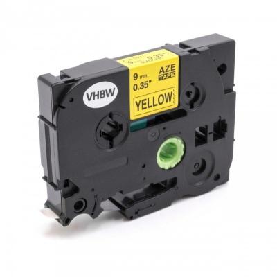 Brother TZe-V621, 9mm x 5,5m, czarny druk / żółty podkład, vinyl, taśma zamiennik