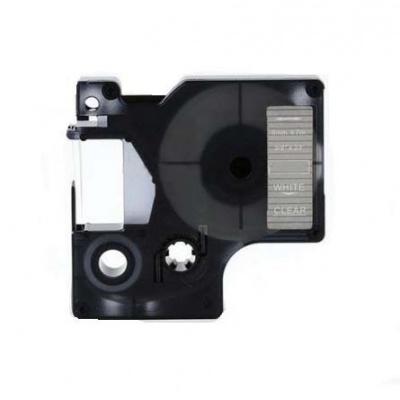 Taśma zamiennik Dymo 53720, 24mm x 7m, biały druk / przezroczysty podkład