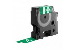 Taśma zamiennik Dymo 1805420, 19mm x 5, 5m biały druk / zielony podkład, vinyl