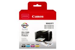 Canon tusz oryginalna PGI-1500 BK/C/M/Y Multipack, CMYK, 400/3*300 stron, 9218B005, Canon MAXIFY MB2050,MB2150,MB2155,MB2350,MB2750,M
