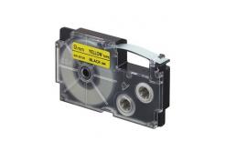 Casio XR-9YW1, 9mm x 8m, czarny druk / żółty podkład, taśma oryginalna