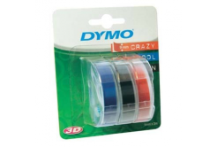 Dymo S0847750, 9mm x 3 m, biały druk / czarny (black), modrý, czerwony, taśma oryginalna