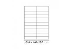 Samoprzylepne etykiety 210 x 74,2 mm, 4 etykiet, A4, 100 arkuszy