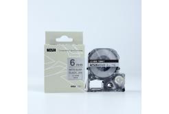 Epson LK-SM6X, 6mm x 9m, czarny druk / matowy srebrny podkład, taśma zamiennik