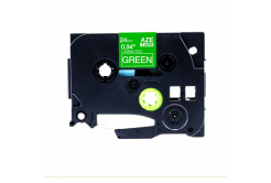 Taśma zamiennik Brother TZ-755 / TZe-755, 24mm x 8m, biały druk / zielony podkład