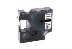 Taśma zamiennik Dymo 18055, S0718300, 12mm x 1, 5m czarny druk / biały podkład