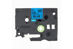 Taśma zamiennik Brother TZ-FX521 / TZe-FX521, 9mm x 8m, flexi, czarny druk / modrý pod