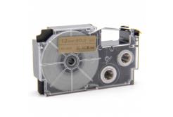 Taśma zamiennik Casio XR-12GD1 12mm x 8m czarny druk / złoty podkład