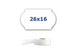 Cenové etykiety do kleští, 26mm x 16mm, 700 szt., białe