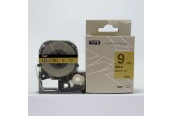 Epson LC-SM9ZW, 9mm x 8m, czarny druk / złoty podkład, taśma zamiennik