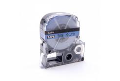 Epson LC-SC9BW, 9mm x 8m, czarny druk / niebieski podkład, taśma zamiennik