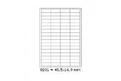 Samoprzylepne etykiety 48,5 x 16,9 mm, 68 etykiet, A4, 100 arkuszy