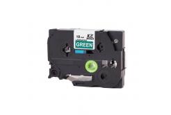 Taśma zamiennik Brother TZ-745 / TZe-745, 18mm x 8m, biały druk / zielony podkład