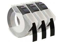 Taśma zamiennik Dymo S0847730, 9mm x 3 m, biały druk / czarny, 3 szt