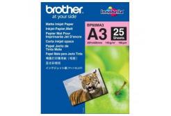 Brother BP60MA3 Photo matowy Paper, papier fotograficzny, matowy, biały, A3, 145 g/m2, 25 szt.