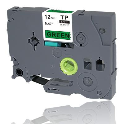 Brother TZe-V731, 12mm x 5,5m, czarny druk / zielony podkład, vinyl, taśma zamiennik