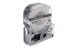 Epson LK-ST6KW, 6mm x 9m, czarny druk / przezroczysty podkład, taśma zamiennik