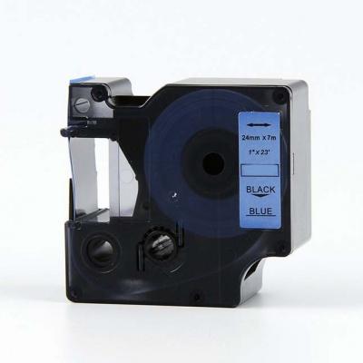 Taśma zamiennik Dymo 53716, S0720960, 24mm x 7m, czarny druk / niebieski podkład