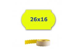Cenové etikety do kleští, 26mm x 16mm, 700ks, signální žluté