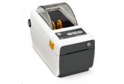 Zebra ZD410 ZD41H22-D0EW02EZ drukarka etykiet, 8 dots/mm (203 dpi), MS, RTC, EPLII, ZPLII, USB, BT (BLE, 4.1), Wi-Fi, biała