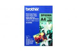 Brother Matte Inkjet Paper, papier fotograficzny, matowy, biały, A4, 145 g/m2, 25  szt., BP60MA, druk atramentowy