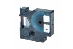 Taśma zamiennik Dymo 1805433, 24mm x 5, 5m czarny druk / przezroczysty podkład, polyester
