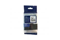 Taśma zamiennik Brother TZ-M951 / TZe-M951, 24mm x 8m, czarny druk / srebrny podkład