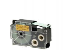 Taśma zamiennik Casio XR-18GD1 18mm x 8m czarny druk / złoty podkład