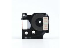 Taśma zamiennik Dymo 45012, S0720520, 12mm x 7m czerwony druk / przezroczysty podkład