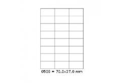 Samoprzylepne etykiety 70 x 37 mm, 24 etykiet, A4, 100 arkuszy