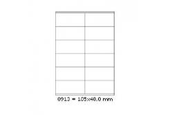 Samoprzylepne etykiety 105 x 48 mm, 12 etykiet, A4, 100 arkuszy