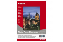 Canon SG-201 Photo Paper Plus Semi-Glossy, papier fotograficzny, félig błyszczący, szatén, biały, A4, 260 g/m2, 20 szt.