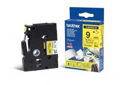 Brother TZ-FX621 / TZe-FX621, 9mm x 8m, czarny druk / żółty podkład, taśma oryginalna