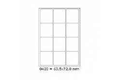 Samoprzylepne etykiety 63,5 x 72 mm, 12 etykiet, A4, 100 arkuszy